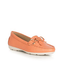 Women's moccasins, coral, 90-D-700-6-36, Photo 1