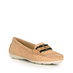 Women's moccasins, beige, 90-D-701-9-36, Photo 1