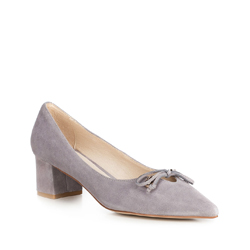 Women's court shoes, grey, 90-D-903-8-37, Photo 1