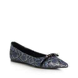 Women's ballerina shoes, navy blue-black, 90-D-905-7-35, Photo 1