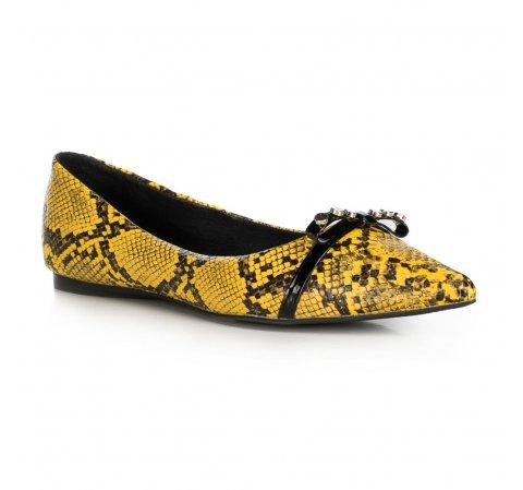 Buty damskie, żółto - czarny, 90-D-905-Y-35, Zdjęcie 1