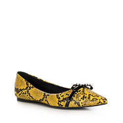 Buty damskie, żółto - czarny, 90-D-905-Y-39, Zdjęcie 1