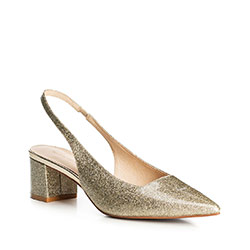 Women's shoes, gold, 90-D-906-G-37, Photo 1