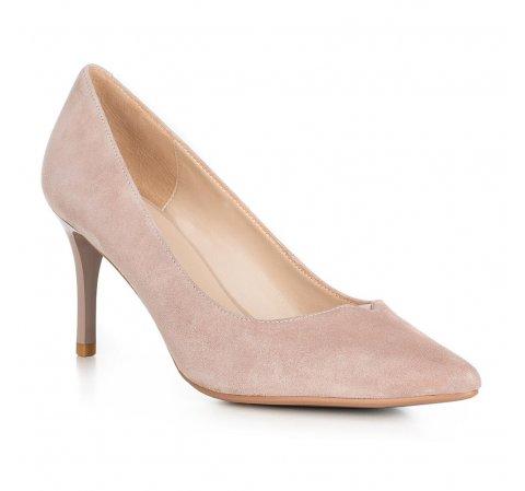 Buty damskie, pudrowy róż, 90-D-951-8-39, Zdjęcie 1