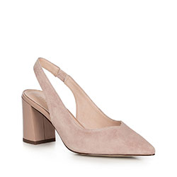 Women's shoes, light beige, 90-D-957-9-40, Photo 1