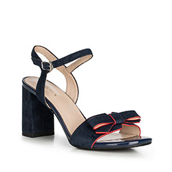 Women's sandals, navy blue, 90-D-961-7-40, Photo 1