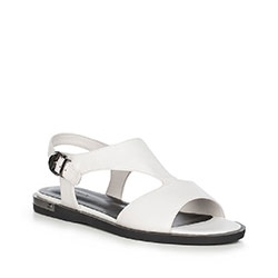 Women's sandals, white-black, 90-D-962-0-36, Photo 1
