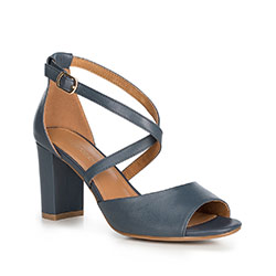Women's sandals, navy blue, 90-D-963-N-36, Photo 1