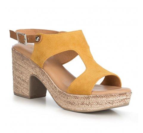 Buty damskie, żółty, 90-D-964-6-39, Zdjęcie 1