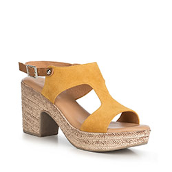 Women's sandals, yellow, 90-D-964-Y-39, Photo 1