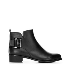 Women's buckle detail ankle boots, black, 91-D-954-1-40, Photo 1