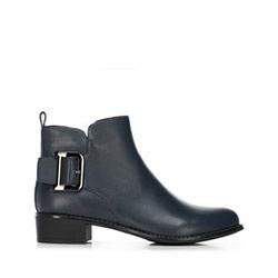 Women's buckle detail ankle boots, navy blue, 91-D-954-7-40, Photo 1