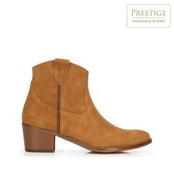 Suede cowboy ankle boots, camel, 92-D-051-5-40, Photo 1