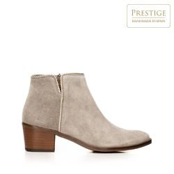 Suede cowboy ankle boots, beige, 92-D-055-9-40, Photo 1