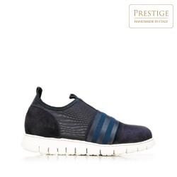 Damskie sneakersy zamszowe z gumką, granatowy, 92-D-116-7-35, Zdjęcie 1