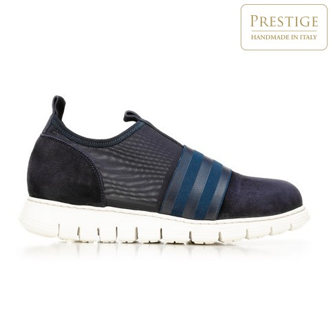 Damskie sneakersy zamszowe z gumką, granatowy, 92-D-116-7-38, Zdjęcie 1