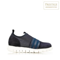 Damskie sneakersy zamszowe z gumką, granatowy, 92-D-116-7-37_5, Zdjęcie 1