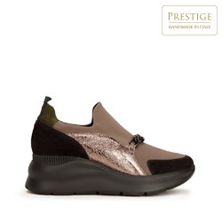 Fashion trainers with chain detail, beige, 93-D-653-X1-41, Photo 1