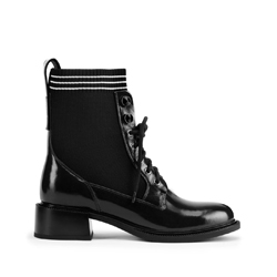 Leather lace up boots, black, 93-D-954-1-40, Photo 1