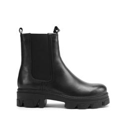 Platform leather Chelsea boots, black, 93-D-970-1-35, Photo 1