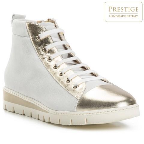 Buty damskie, biało - złoty, 82-D-114-9-35, Zdjęcie 1