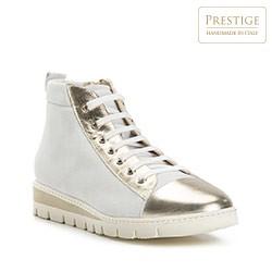Buty damskie, biało - złoty, 82-D-114-9-38, Zdjęcie 1