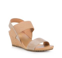 Buty damskie, beżowy, 84-D-605-5-37, Zdjęcie 1