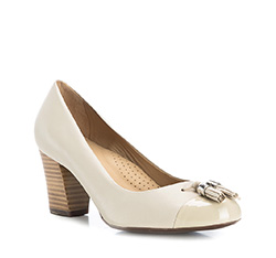 Women's shoes, light beige, 84-D-704-9-37, Photo 1