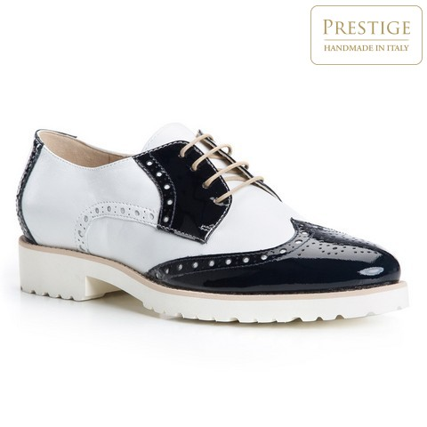 Buty damskie, granatowo - biały, 84-D-105-7-35, Zdjęcie 1