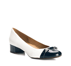 Buty damskie, biało - granatowy, 84-D-706-0-36, Zdjęcie 1