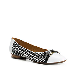 Buty damskie, biało - czarny, 84-D-707-0-36, Zdjęcie 1
