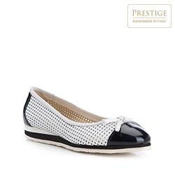 Buty damskie, biało - czarny, 84-D-107-0-38, Zdjęcie 1