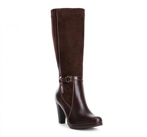 Buty damskie, brązowy, 83-D-202-4-35, Zdjęcie 1