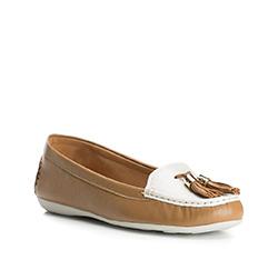 Buty damskie, brązowo - biały, 84-D-712-5-37, Zdjęcie 1