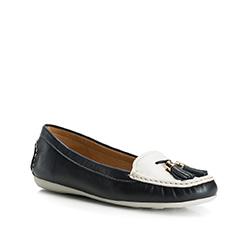 Buty damskie, granatowo - biały, 84-D-712-7-37, Zdjęcie 1