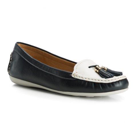 Buty damskie, granatowo - biały, 84-D-712-7-35, Zdjęcie 1