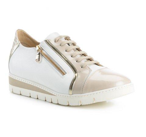 Buty damskie, beżowo - biały, 84-D-110-8-36, Zdjęcie 1