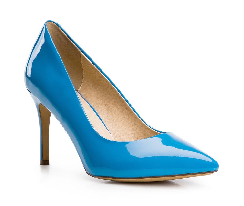 Обувь женскаяТуфли женские класические. Изготовленные по технологии Hand Made и выполнены полностью из натуральной итальянской кожи наивысшего качества. Подошва сделана из качественного синтетического материала. Сочетание классических высоких каблуков каждый раз по разному создает уникальный и модный  образ.<br><br>секс: женщина<br>Цвет: голубой<br>Размер EU: 39<br>материал:: Натуральная кожа<br>примерная высота каблука (см):: 9