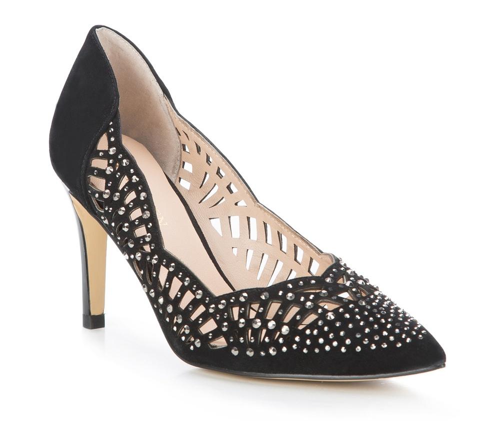 Обувь женскаяТуфли женские классические. Изготовленные по технологии \Hand Made\ и выполнены из натуральной итальянской кожи наивысшего качества. Подошва сделана из качественного синтетического материала. Сочетание классических высоких каблуков каждый раз по разному создает уникальный и модный  образ.<br><br>секс: женщина<br>Цвет: черный<br>Размер EU: 35