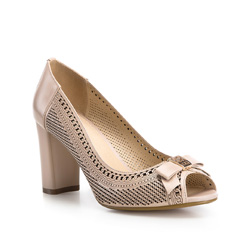 Buty damskie, beżowy, 84-D-505-9-38, Zdjęcie 1