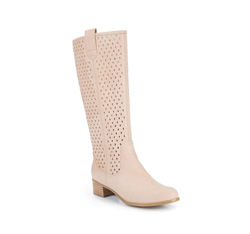 Women's knee high boots, beige, 84-D-515-9-40, Photo 1