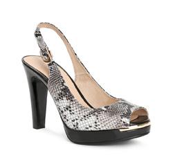 Buty damskie, czarno - biały, 84-D-506-8-39, Zdjęcie 1