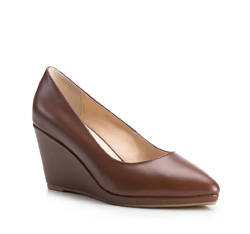 Women's wedge shoes, light brown, 84-D-900-5-38, Photo 1