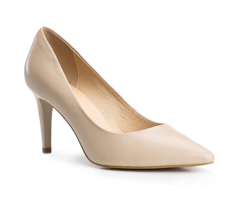 Обувь женскаяТуфли женские класические.Изготовленные по технологии Hand Made и выполнены полностью из натуральной итальянской кожи наивысшего качества. Подошва сделана из качественного синтетического материала. Сочетание классических высоких каблуков каждый раз по разному создает уникальный и модный  образ.<br><br>секс: женщина<br>Цвет: бежевый<br>Размер EU: 35<br>материал:: Натуральная кожа<br>примерная высота каблука (см):: 9
