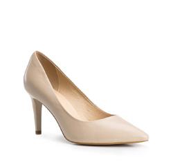 Buty damskie, kremowy, 84-D-513-9-36, Zdjęcie 1