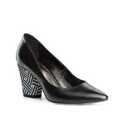 Buty damskie, czarno - biały, 83-D-201-1W-37, Zdjęcie 1
