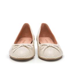 Women's ballerina shoes, ecru, 86-D-606-9-37, Photo 1