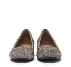 Women's ballerina shoes, grey, 86-D-656-8-39, Photo 1
