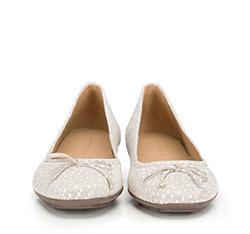 Women's ballerina shoes, grey-white, 86-D-708-X-35, Photo 1