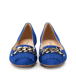 Women's ballerina shoes, blue, 86-D-752-N-36, Photo 1